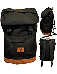 Black Guinness Backpack With Brown Suede Base