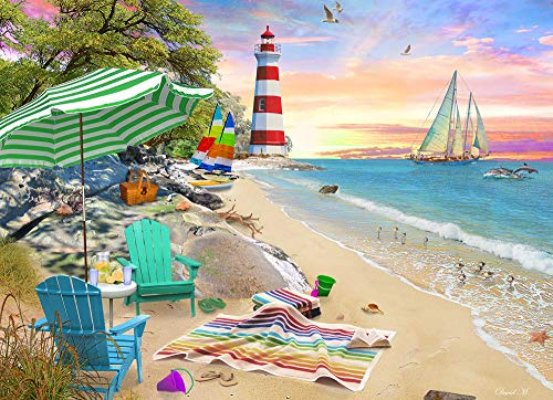 Vermont Christmas Company Seaside Beach Jigsaw Puzzle 1000 Piece