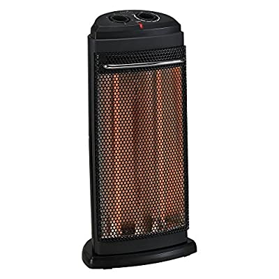 Duraflame Radiant Quartz Tower Heater Heater, with 2 Heat Settings & Fan Only Mode, Adjustable Thermostat, with Built-In Tip Over Safety Switch and Overheat Protection