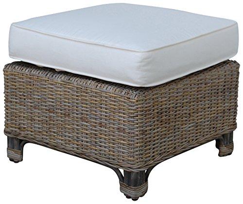 - Panama Jack Sunrooms PJS-3001-KBU-OT Exuma Ottoman with Cushion, Sunbrella Foster Metallic