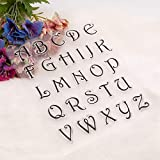 YULEKITO Beautiful Alphabet Letters Clear Stamps
