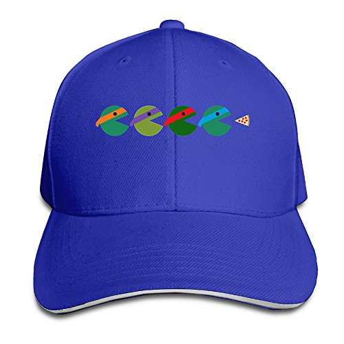 [Logon 8 Pac-Turtles Fashion Sandwich Peaked Cap RoyalBlue One Size] (Lady Reaper Costumes)