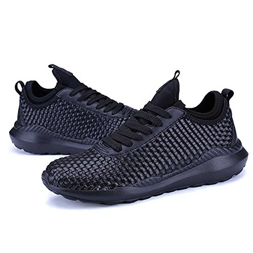 Zapatos de Mujer Fall New Men Zapatos con Cordones, Suelas de luz Suaves y Confortables Breathable Weave Men Ladies Zapatos pequeños, Zapatos de Amantes de la Academia Segundo