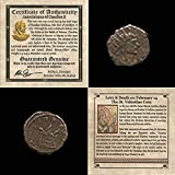 ST. VALENTINE COIN - Authentic Ancient Roman Antique from 268-270 AD - Genuine Roman Bronze Coin - Historical Souvenir with Certificate of Authenticity - Coin Minted During Reign of Claudius Gothicus with Love & Death Story