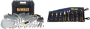 DEWALT Mechanics Tool Set, 247-Piece (DWMT81535) & IRWIN VISE-GRIP GrooveLock Pliers Set, 8-Piece (2078712)