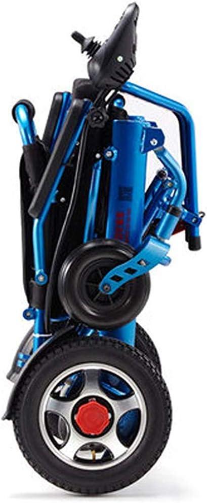 CHAIR Silla de ruedas, silla de rehabilitación médica para personas mayores, personas mayores, sillas de ruedas eléctricas ligeras y plegables, silla de ruedas duradera, segura y fácil para mayor com