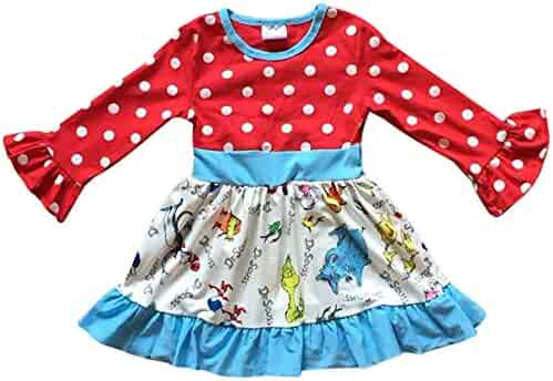 2f0cb7705c BluNight Collection Little Girl Dress Long Sleeve Christmas Holiday Party Flower  Girl Dress 2T-8