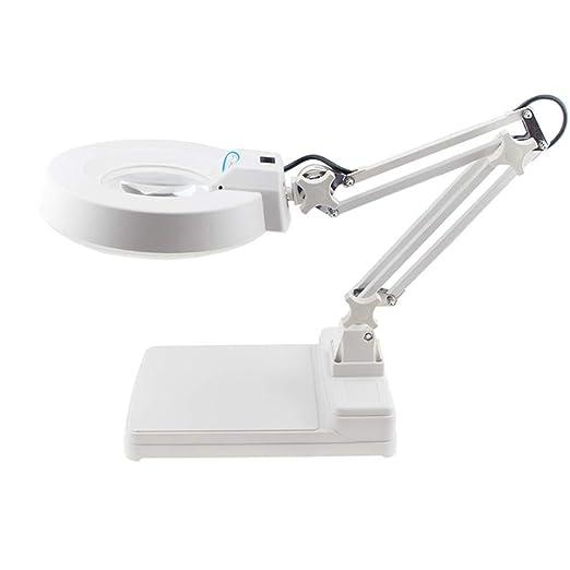 Lupa LED de alta potencia para mesa de escritorio, con lupa de ...