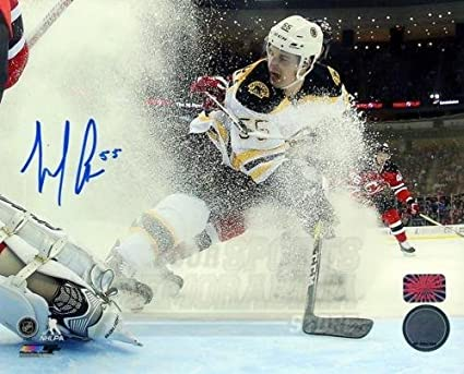 Pf Noel Noel Acciari Boston Bruins Signed Autographed Away Action Netcam