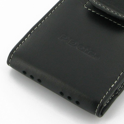 iPhone5 Leather Case in Bumper - Vertical Pouch Type with Belt Clip - PDair (Black) *** NO Bumper Included, keine Stoßfänger enthalten ***