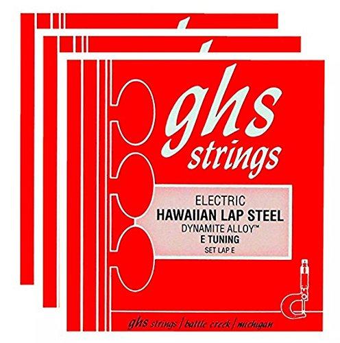 GHS Electric Hawaiian Lap Steel Strings E Tuning 13-56 (3 Pack)