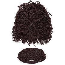 TBNA Bridal Knitted Hat Winter Warm Funny Cap Crochet Knit Beanie Hat Kids Beard Hat