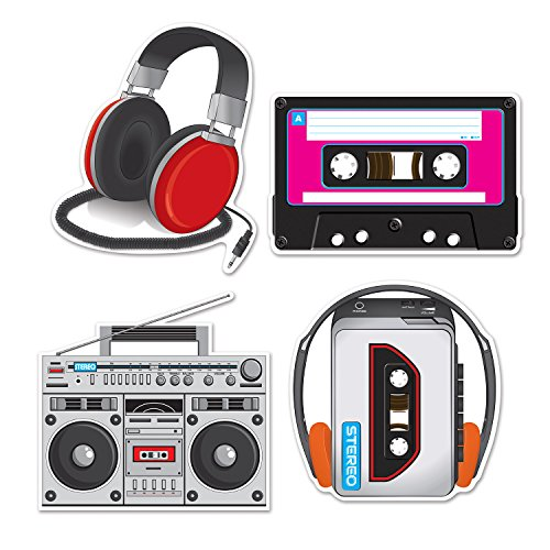 Beistle 54667 Cassette Player Cutouts, 12
