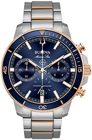 Bulova Two Tone Stainless Chronograph Bracelet