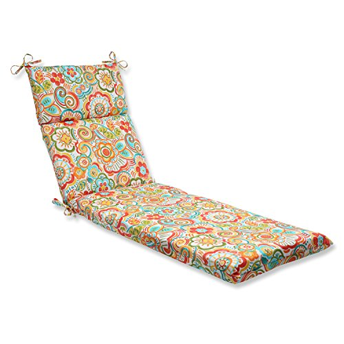 Pillow Perfect Outdoor Bronwood Carnival Chaise Lounge Cushion, Multicolored