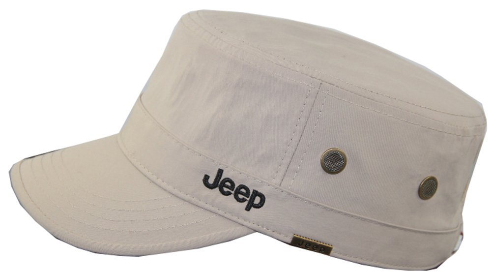 Jeep Unisex Adjustable Military Cap Hat (Apricot, Free Size)