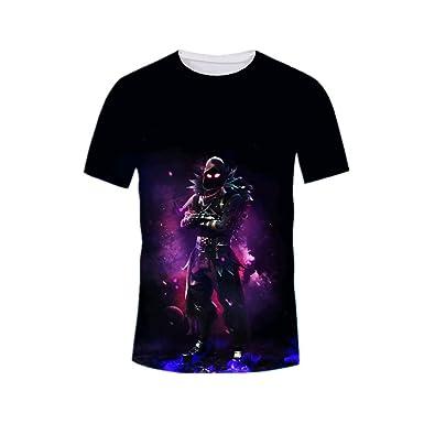 3531e5f5 CHYX Cool Unisex 3D Fortnite Black Nanja Printed Round Neck Short Sleeve T- Shirt (US L=Asia Lable XXL): Amazon.co.uk: Clothing