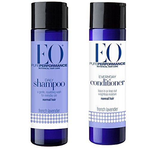 EO French Lavender All Natural Botanical Shampoo and Conditioner Bundle For Normal Hair With Vitamin B, Vitamin E and Essential Oil, 8 fl. oz. each