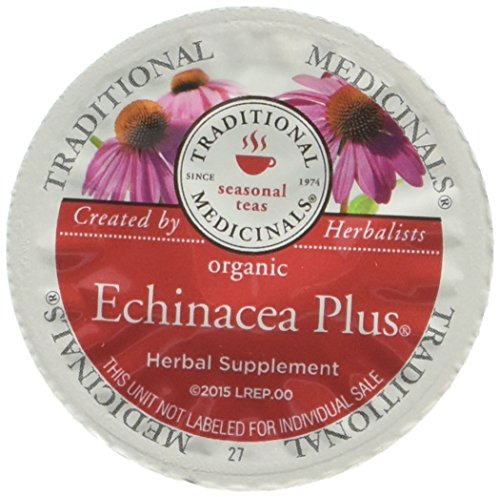 Traditional Medicinals Organic Echinacea Plus Tea, Single Serve Cups for Keurig K-Cup Brewers, 10 Count (Pack of 6) Taylor Ready System