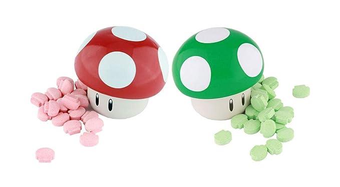Super Mario Bros Mushroom Tin Sour Candies Set Of 2 Amazon Com