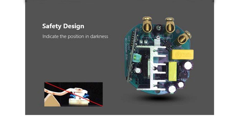 Variateur de lumi/ère norme UE fran/çais non garanti LED blanc Fa/çade en verre tremp/é transparent 500/W Tactile Manuel de l/'utilisateur