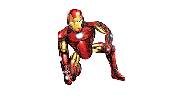 46 Anagram A1100 2 Iron Man Airwalkers Foil Balloon Multicolored