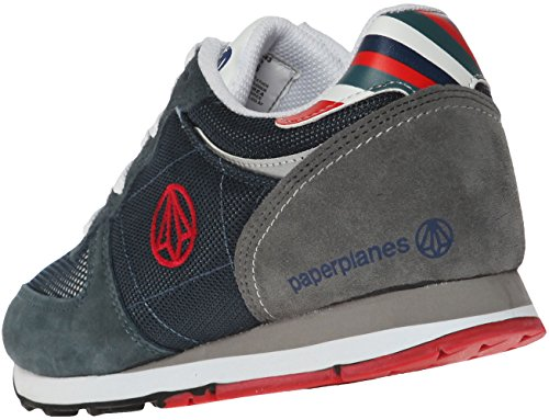 Paperplanes-1143 Femmes Mode Casual Maille En Daim Tall Up Sneakers Chaussures 1143-marine