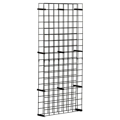 Wine Enthusiast 144 Bottle Tie Grid, Black