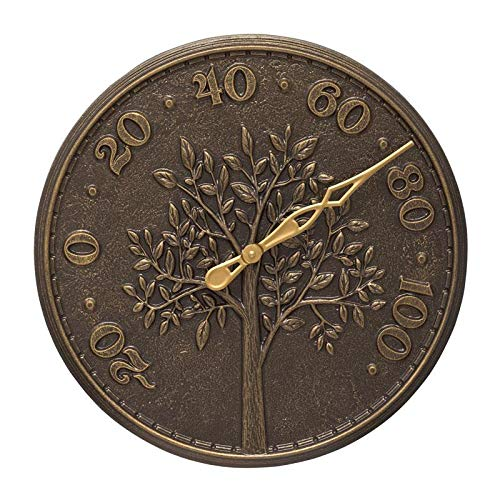 (Tree of Life 16-in Indoor Outdoor Wall Thermometer - 10438)