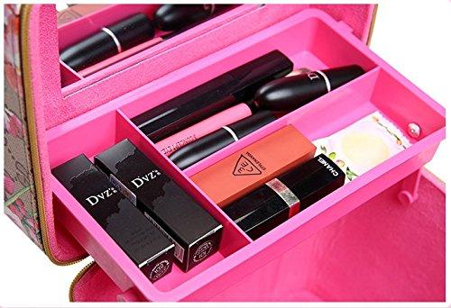bagaglio bagno portatile Light Cosmetic Kahki1 da Bag Doppio Toyonee xqvCtwUBv