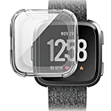 Hunputa Fitbit Versa cover,Ultra-thin Soft Plating TPU Protection Silicone Case Cover For Fitbit Versa (Clear)