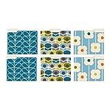 Studio Oh! Orla Kiely 6-Count Retro Flowers Letter Size 1/3 Cut File Folder Set