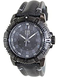 Luminox Men's Modern Mariner 6251.BO Black Leather Swiss Quartz Watch