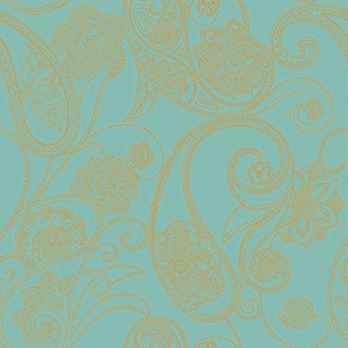 Candice Olson Shimmering Details Dotted Paisley Wallpaper Color: Blue