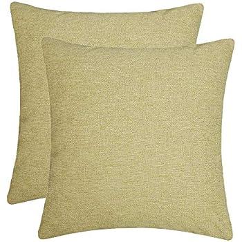 Amazon.com: Jepeak - Funda de cojín de lino y algodón con ...