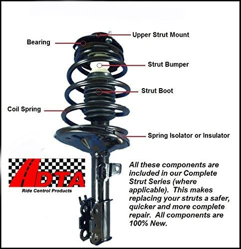DTA 60191-2 Rear Complete Strut Assemblies With Springs and Mounts Compatible with Toyota Celica 2000-2005 Rear Left and Right