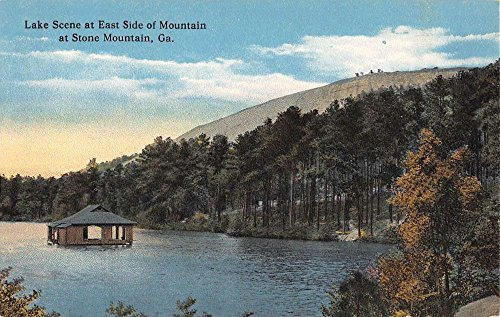 Stone Mountain Georgia Lake Scene Waterfront Antique Postcard K69875