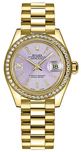 Women's Rolex Lady-Datejust 28 Solid 18K Gold Luxury Watch (Ref. 279138RBR)