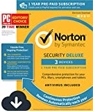 Norton Security Deluxe – 3 Devices, 1 Year Pre-Paid Subscription, Renews automatically for uninterrupted protection [PC/Mac/Mobile Download]