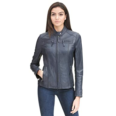 e8a4769c8025 Wilsons Leather Womens Wilsons Vintage Center Zip Genuine Lamb Scuba ...