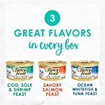 Purina Fancy Feast Grain Free Pate Wet Cat Food Variety Pack, Seafood Classic Pate Collection - (30) 3 oz. Cans 9