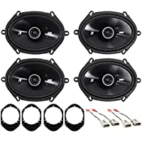 1997-1998 Ford F-150 Kicker 6x8 Front+Rear Factory Speaker Replacement Kit