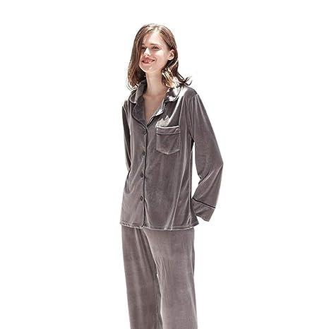 Escote Jersey Pijamas de Mujer Batas Conjunto de Pijamas ...