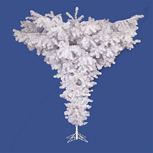 Vickerman 75' Unlit Crystal White Upside Down Artificial Christmas - Trees Christmas Upside Down