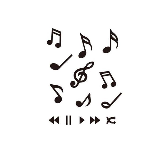 Nota musical duradera de la etiqueta engomada de la simulación de ...
