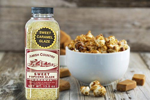 Amish Country Popcorn - Sweet Caramel Glaze - 13.5 oz - Great Tasting and Old Fashioned Sweet Treat - with Recipe Guide and 1 Year Freshness Guarantee by Amish Country Popcorn (Image #2)'