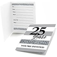 Big Dot of Happiness We Still Do - 25th Wedding Anniversary - Fill In Anniversary Party Invitations (8 count)