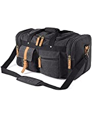 Plambag Oversized Canvas Duffel Bag Overnight Travel Tote Weekender Bag