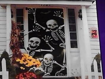 & Amazon.com : Halloween Door Cover Skeletons : Garden \u0026 Outdoor