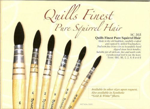 Dynasty Pure Squirrel Quills Series 303 - Size 4